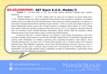 687 Nolu KHK MADDE 3