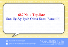 687 Nolu KHK TEŞVİKİNDE ÖNEMLİ BİR ESNEME