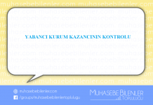 YABANCI KURUM KAZANCININ KONTROLU
