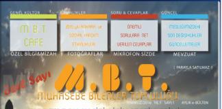 MBT DERGİSİ İLK SAYISI