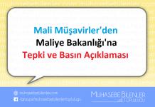 Mali Müşavirlerden Maliye Bakanlığına Tepki ve Basın Açıklaması