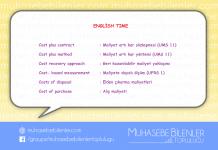 english time maliyetler