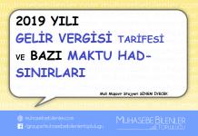 2019 gelir v. tarifesi