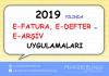 2019 yilinda efatura edefter earsiv uygulamalari