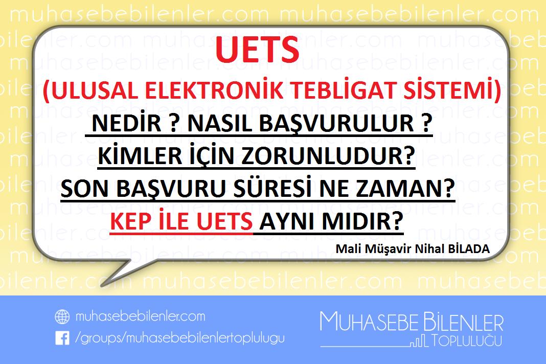 Uets Ulusal Elektronik Tebligat Sistemi Muhasebe Bilenler Topluluğu