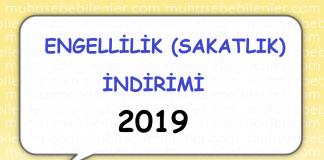 engellilik indirimi 2019