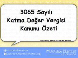 3065 S.KDV ÖZETİ
